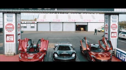 Драг битката на титаните: P1 vs Laferrari vs 918