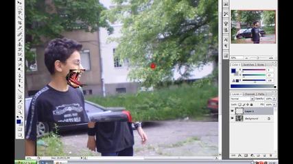 Photoshop урок - Правене на изрод (bg Audio)