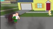Peter Griffin vs Homer Simpson! Cartoon Fight Club Episode 11