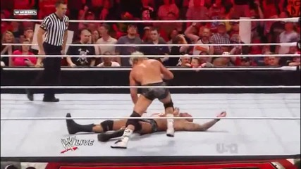 Dolph Ziggler counters Punt Kick into Superkick