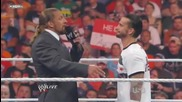 Raw 1/08/11 - Промото на Cm Punk и Triple H