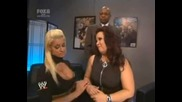 Smackdown-Maryse, Batista, Teddy And Vickie Зад Кулисите *HQ*