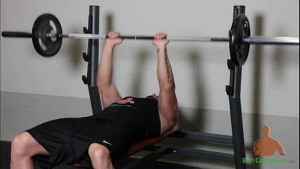 Лазар Ангелов - Лег с тесен хват Трицепс и Гръдни мускули