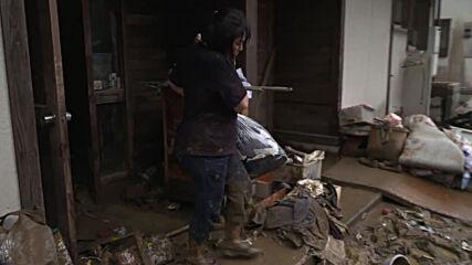 Japan: Kuma village desolate and left devastated from floods