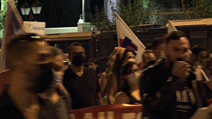 Greece: Protesters burn NATO and US flags near American embassy in Athens