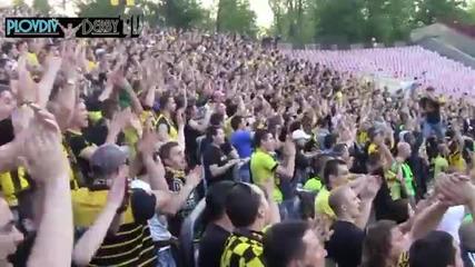 Агитката на Ботев Пд в София срещу Цска 04.05.2013