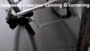 Рамка кормилно управление с обтяжки на наклоняваща сгъваема елкола с огледално усилени фотовотаици