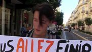 France: Pro- and anti-refugee protesters face-off in Montpellier
