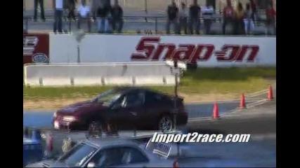 Mitsubishi Lancer Evo Vs Subaru Impreza - Drag