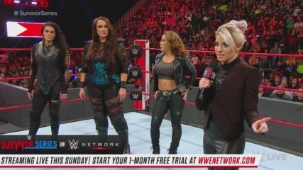 Alexa Bliss reveals the Raw Women's Survivor Series Team: Raw, Nov. 12, 2018