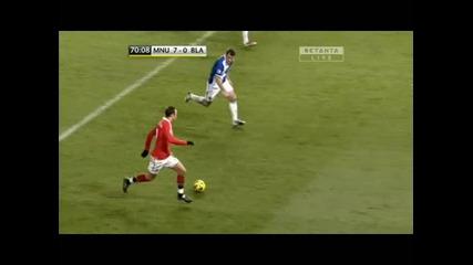 Манчестър Юнайтед - Блекбърн 7 - 0 гол на Бербатов