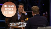 Jon Hamm is the all-time winner of James Corden's Spill Your Guts