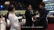 Romeo ( Lee Min Ho ) & Juliet ( Park Shin Hye ) at the S B S Awards 2013 + български превод