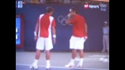 Олимпийски Тенис Турнир : Федерер/Вавринка - Йохансон/Аспелин