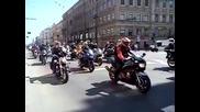 Рокерско шествие Невский проспект- Москва