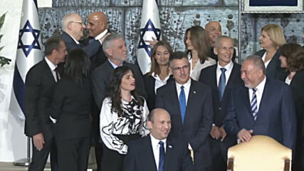 Israel: New government takes photo with President Rivil at Beit HaNassi