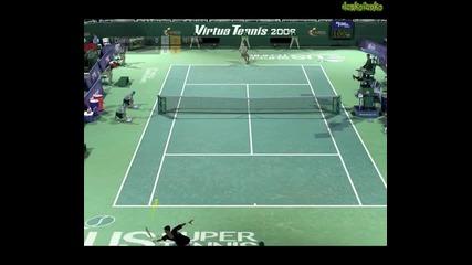 Virtua Tennis 2009 - My Gameplay!!!!!!!!!!!