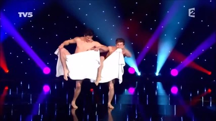 Naked towel dance