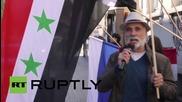 Германия: Митинг пред руското консулство в подкрепа на Асад и Путин