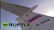 Syria: EMERCOM plane flies in aid supplies, evacuates foreign and local citizens