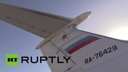 Syria: EMERCOM plane flies in aid supplies, evacuates foreign and local citizens
