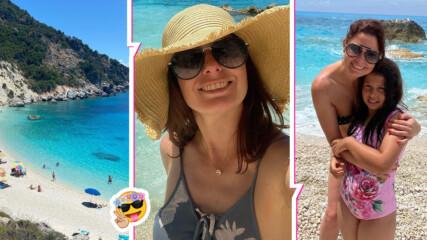 Слънце и плаж: морското приключение на Алекс Сърчаджиева и дъщеря ѝ