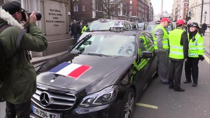 """Англия: 8000 таксиметрови шофьори излязоха на протест срещу """"Юбер"""""""