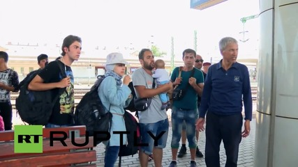 Hungary: Migrants stranded in Gyor after catching wrong train from Budapest