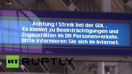 Germany: Nationwide delays expected as open-ended strike hits German railways