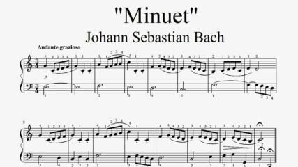 """Johann Sebastian Bach - Minuet"" - Piano sheet music (by Tatiana Hyusein)"