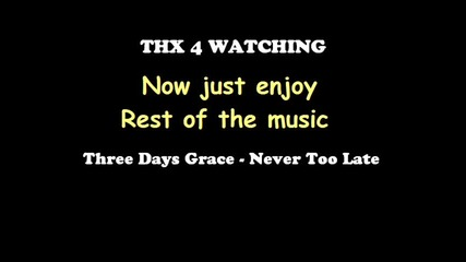 uncontrol on 266block + Three days grace - Never too late