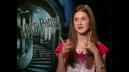 Bonnie Wright - интервю Harry Potter And The Half Blood Prince част 2