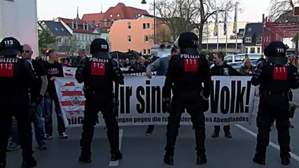Germany: Clashes erupt as 'Thugida' extremists march on Hitler's birthday
