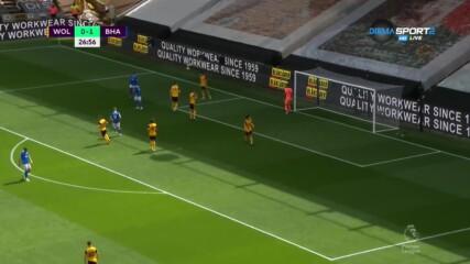 Уулвърхемптън Уондърърс - Брайтън & Хоув Албиън 0:1 /първо полувреме
