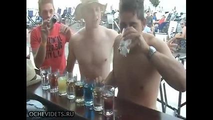 Ето така се повръща на фонтан след 2 литра алкохол на екс