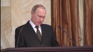 Russia: Putin says Russia will 'end hostilities' against Syrian militias observing ceasefire