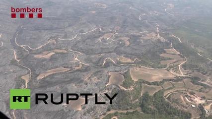 Spain: Wildfire in Odena devastates over 1200 hectares
