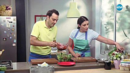 Зелена салата с малинов дресинг - Бон апети (28.05.2018)