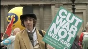Thousands Protest UK Government's Austerity Plan