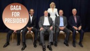 Lady Gaga hangs out with five former US presidents