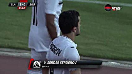 Славия вкара първи гол в Европа след 20 години