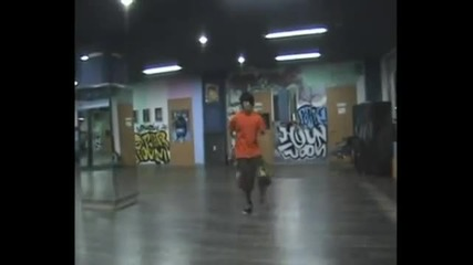 Poppin Hyun Joon - Practice (2009 - 01) with Cyborg - Jjung
