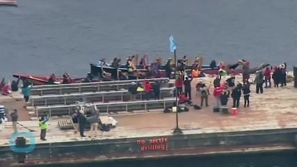 2 People Chained to Shell Ship North of Seattle