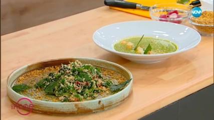 Рецептата днес: Крем супа от коприва с крутони от целина и салата с коприва - На кафе (22.04.2019)