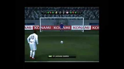 Pes 2010 дузпи Реал Мадрид vs. Байрен Мюнхен Vbox7