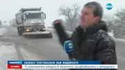 Кошмарен трафик заради снега във Видинско