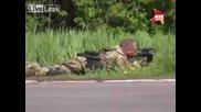Престрелка в Украйна Slavyansk, Ukraine.