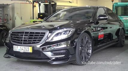 Нереален звук от Mercedes Brabus 850 S63 Amg 6.0 V8 Biturbo 850hp
