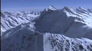 Екстремно изкачване на заснежена планина