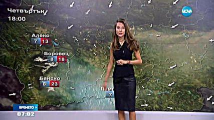 Прогноза за времето (15.09.2016 - сутрешна)